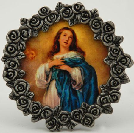 Immaculate Conception Mini Pewter Frame #MPF-IC