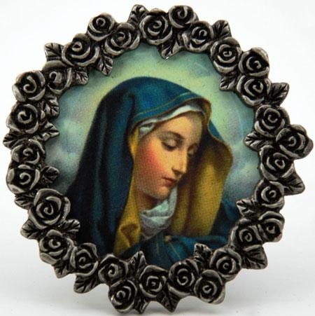 Our Lady of Sorrows Mini Pewter Frame #MPF-OLS