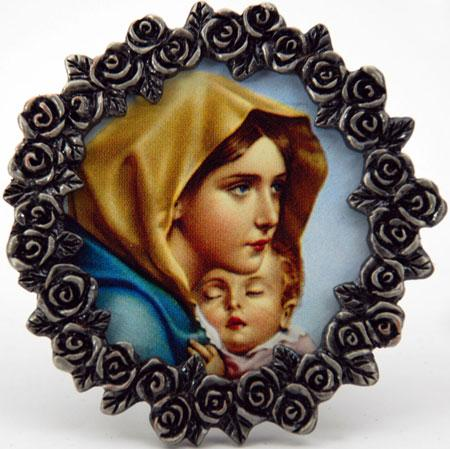 Madonna of the Streets Pewter Frame #MPF-MS