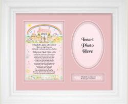 Personalized Newborn Baby Girl Plaque 10101