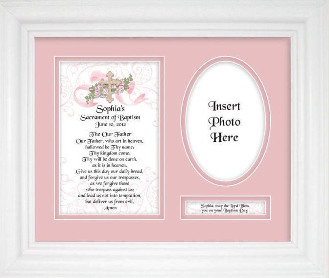 Personalized Baptism Girl 9x12 Plaque 10103