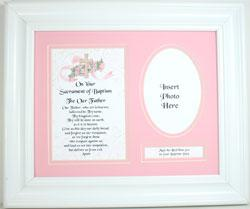 Baptism Plaque for Girl 10103