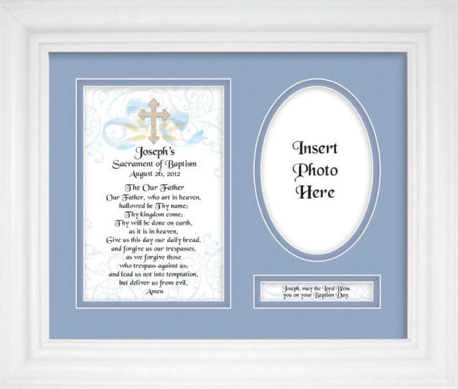 Personalized Baptism Boy 9x12 Plaque 10104