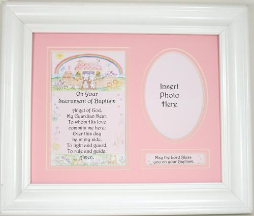 Noah's Ark Baptism Plaque for Girl 11101