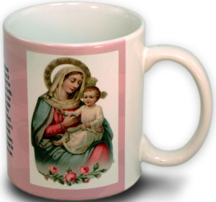 Our Lady of the Rosary Mug 15 Ounce #150OLRb