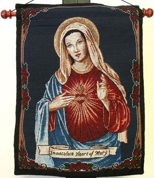 Immaculate Heart 13x18 Tapestry Wall Hanging #1318-IHM