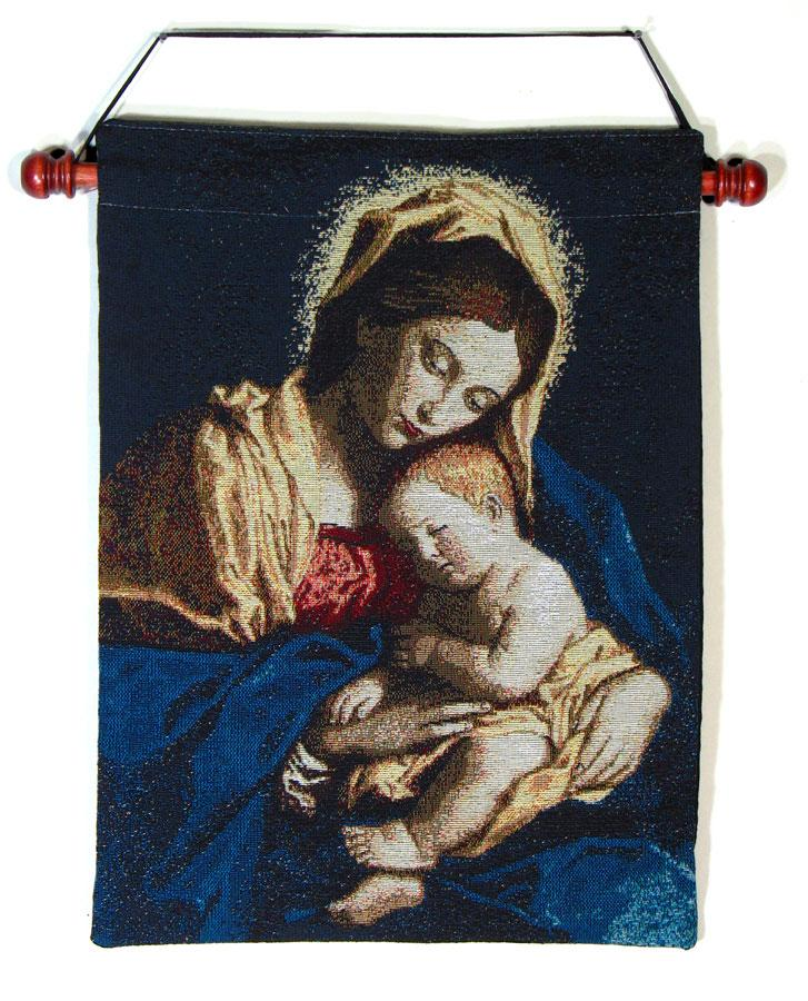 Madonna and Child 13x18 Tapestry Wall Hanging #1318-MCb