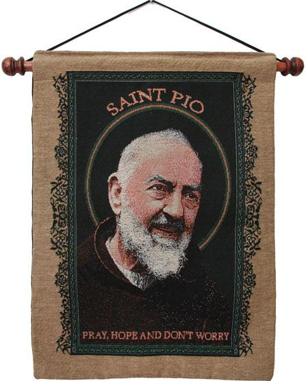 Saint Pio Wall Hanging 13x18 #1318-PP