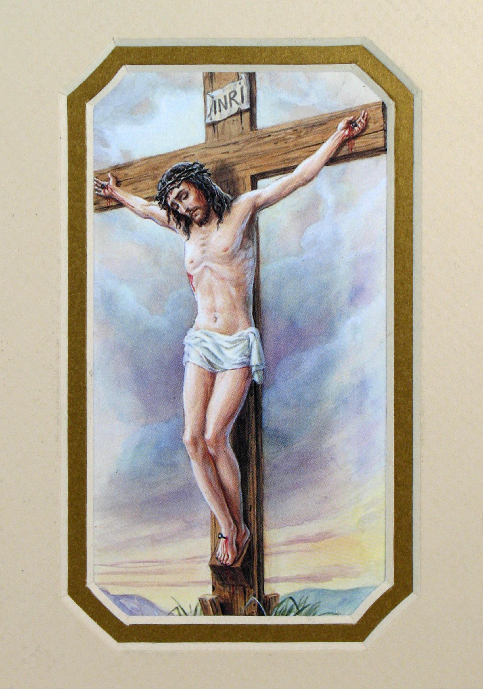 Crucification 3x5 Prayerful Mat #35MAT-CRX