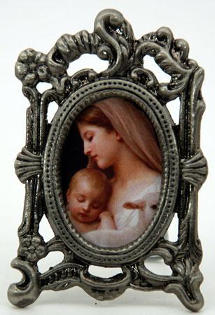 L'Innocence Mini Oval Pewter Frame #MOPF-IN