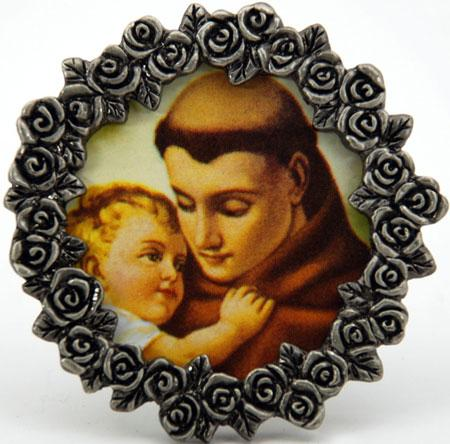 St. Anthony Mini Pewter Frame #MPF-STA