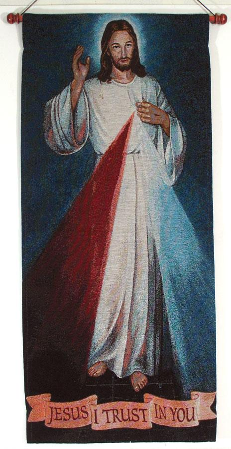 The Divine Mercy 18x40 Wall Hanging #1840-DM
