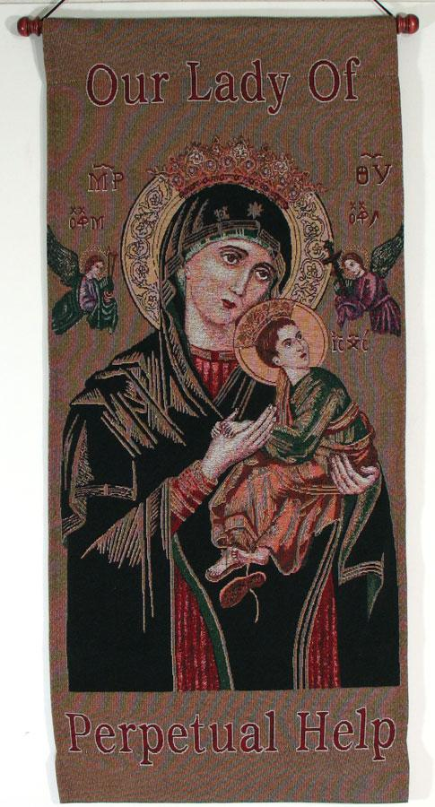 Our Lady of Perpetual Help 18x40 Wall Hanging #1840-PH
