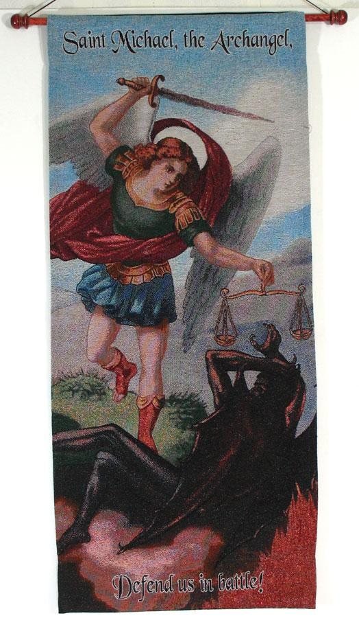 St. Michael 18x40 Wall Hanging #1840-STM