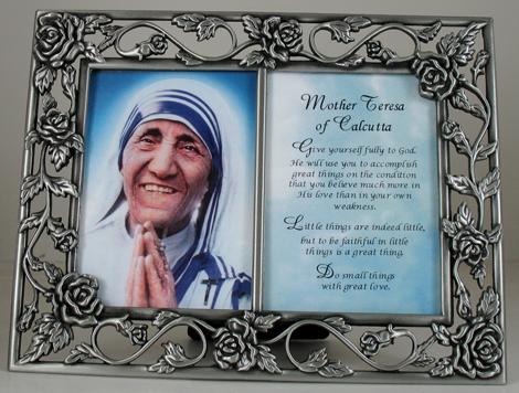 Mother Teresa Pewter Frame 23DPF-MT