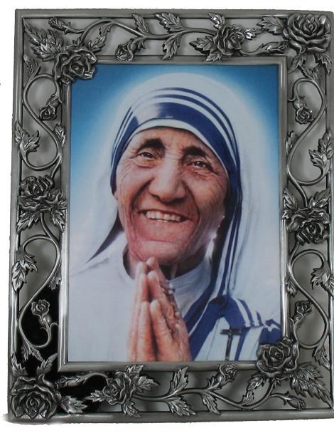 Mother Teresa Pewter Frame 57PF-MT