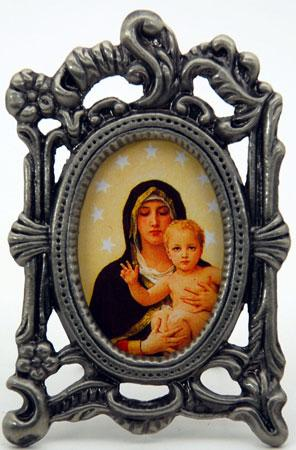 Queen of Angels Pewter Frame #MOPF-QA