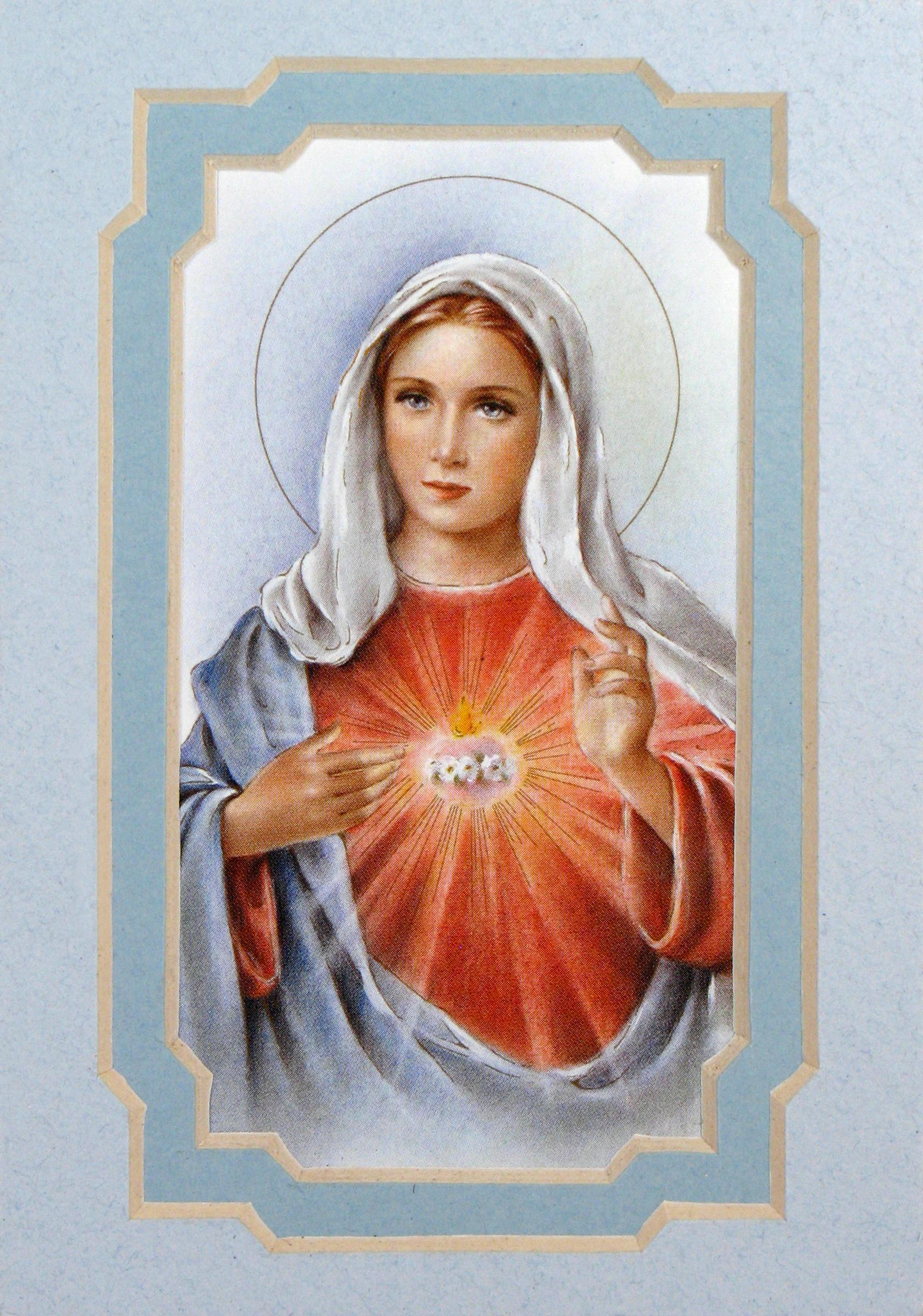 Immaculate Heart of Mary 3x5 Prayerful Mat #35MAT-IHM2