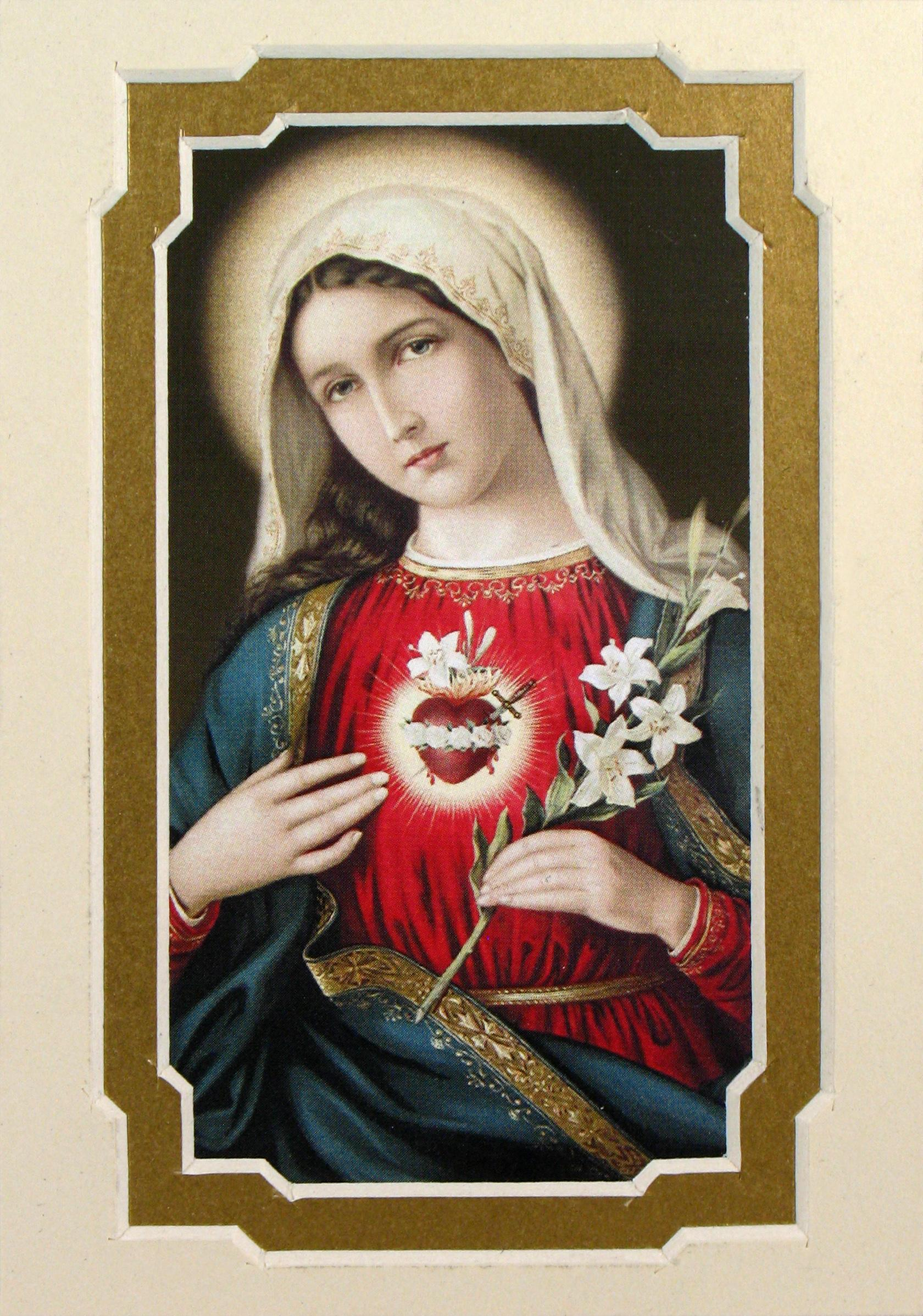 Immaculate Heart of Mary 3x5 Prayerful Mat #35MAT-IHM7