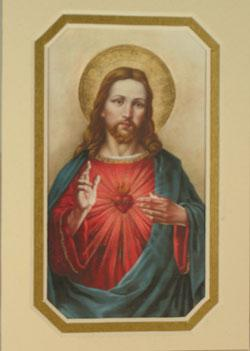 Sacred Heart of Jesus 3x5 Prayerful Mat #35MAT-SHJ10
