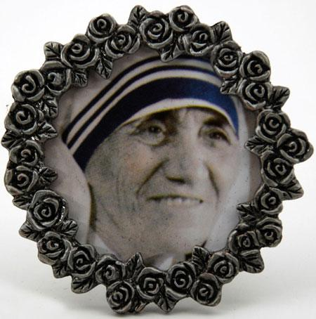 Mother Teresa Mini  Pewter Frame #MPF-MT