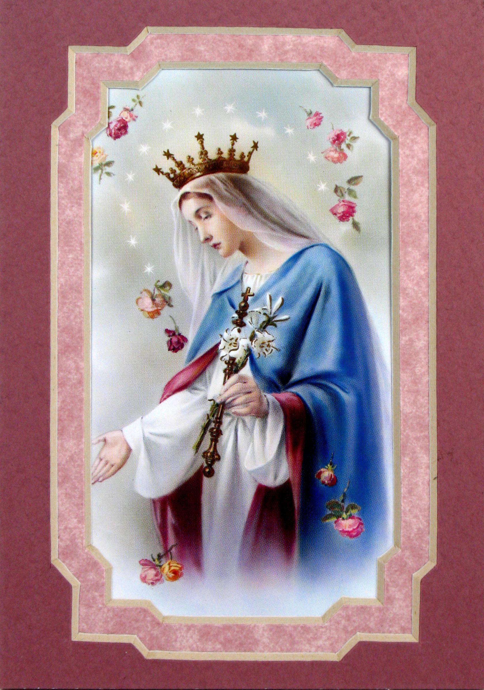 Queen of Heaven 3x5 Prayerful Mat #35MAT-QH1