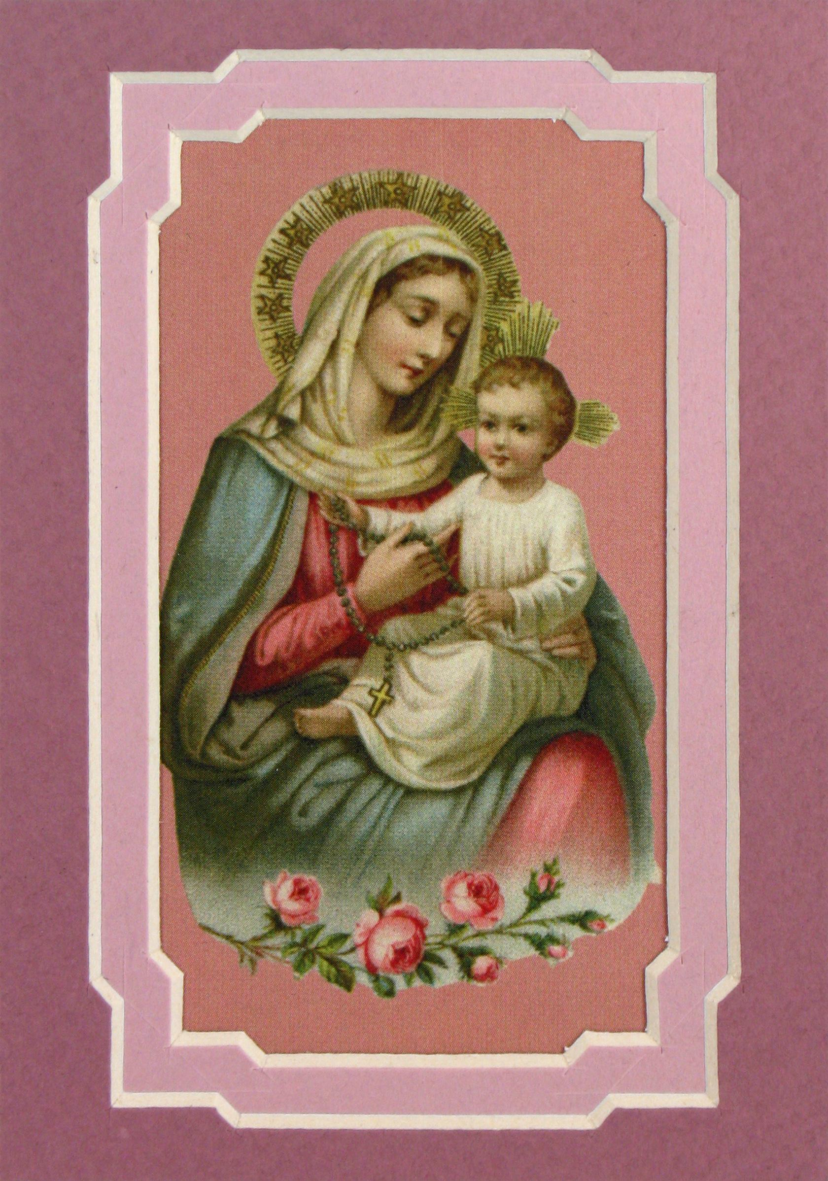 Our Lady of the Rosary 3x5 Prayerful Mat #35MAT-OLR(b)