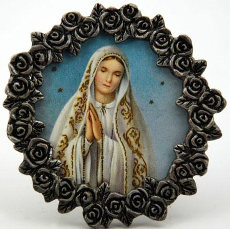 Our Lady of Fatima Mini Pewter Frame #MPF-OLF