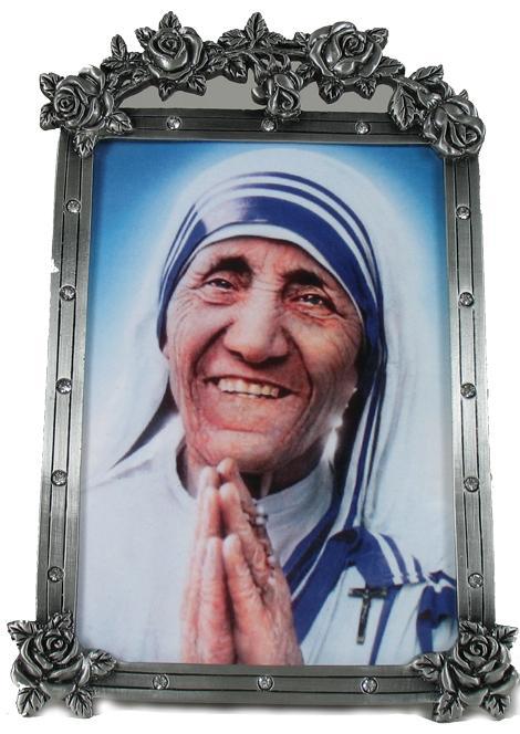 Mother Teresa Pewter Frame 46PF-MT