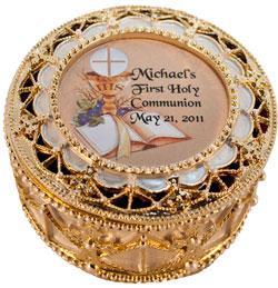 Personalized Communion Rosary Box 489-HC10P