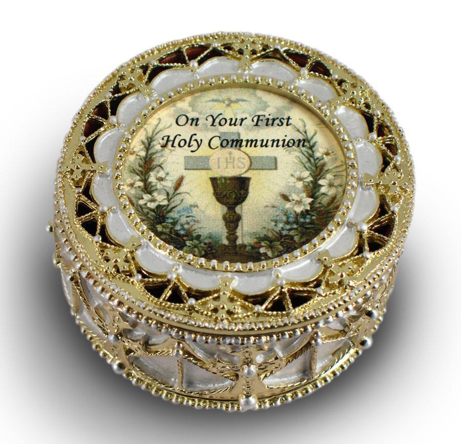 First Communion Rosary Box 498-HC3