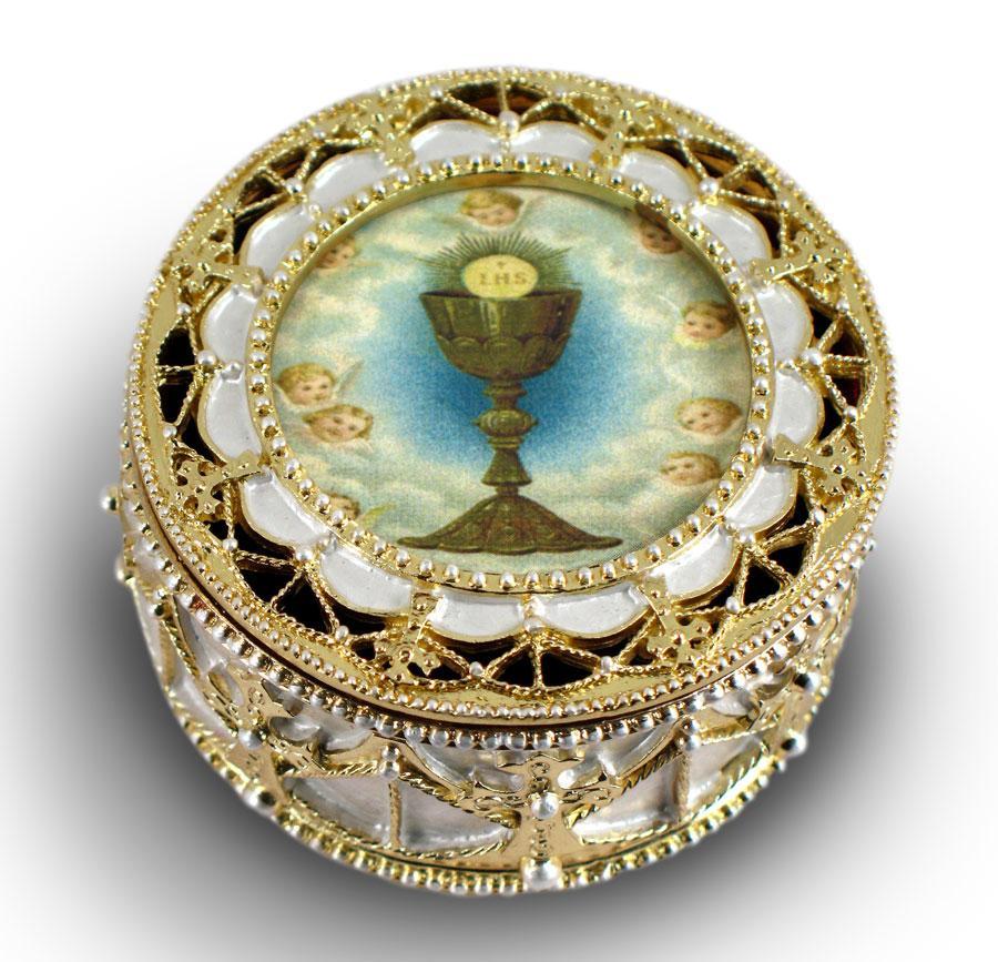 First Communion Rosary Box 498-HC5