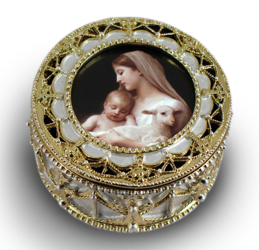 L'Innocence Gold Rosary Box #489-IN