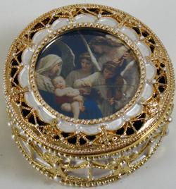 Song of Angels Gold Rosary Box #489-SA