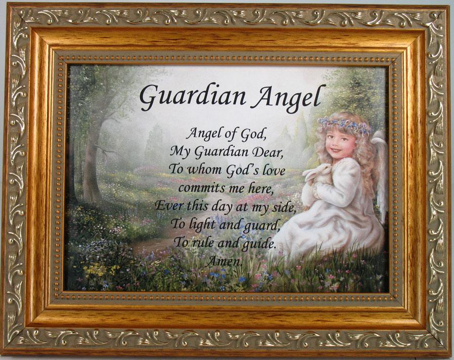Guardian Angel Prayer 5x7 Plaque #57F-GAP