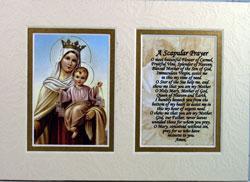Mount Carmel 5x7 Mat with Prayer #57MAT-MTC