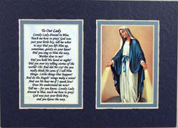 Our Lady of Grace 5x7 Mat with Prayer #57MAT-OLG