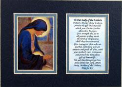 Our Lady of the Unborn  5x7 Mat with Prayer #57MAT-OLM