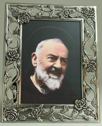 Padre Pio Pewter Frame #57PF-PP