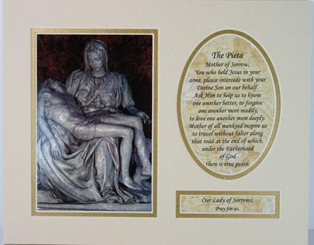 The Pieta Home 8x10 Ready to frame mat #810M-PIE