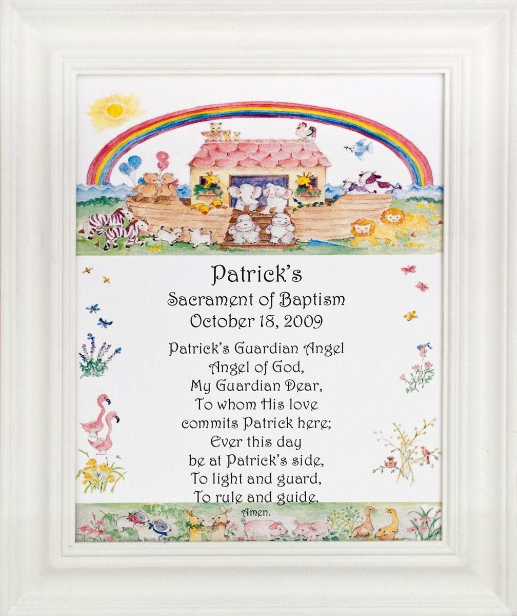 Personalized Baptismal Plaque #810F-NARK-P