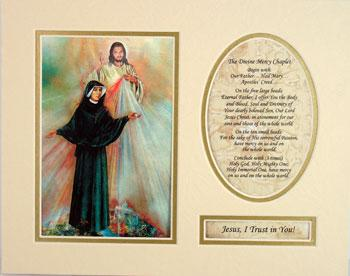 Divine Mercy St Faustina 8x10 Ready to frame mat #810M-BF2