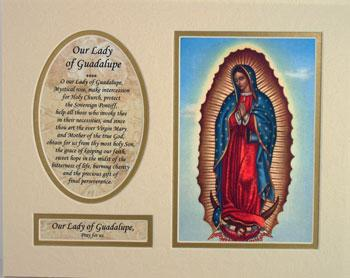 Our Lady Guadalupe 8x10 Ready to frame mat #810M-G