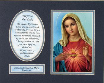 Immaculate Heart 8x10 Ready to frame mat #810M-IHM