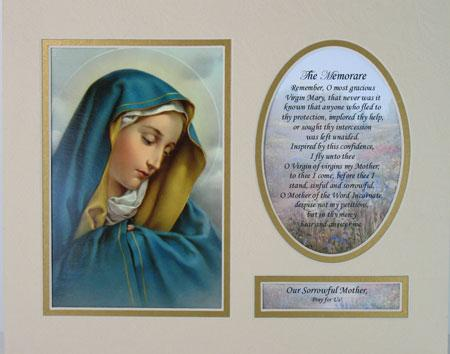 Our Lady of Sorrows 8x10 Ready to frame mat #810M-OLS