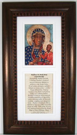 Our Lady of Czestchowa Polish Bronze Frame #4624-OLCZ-I-P