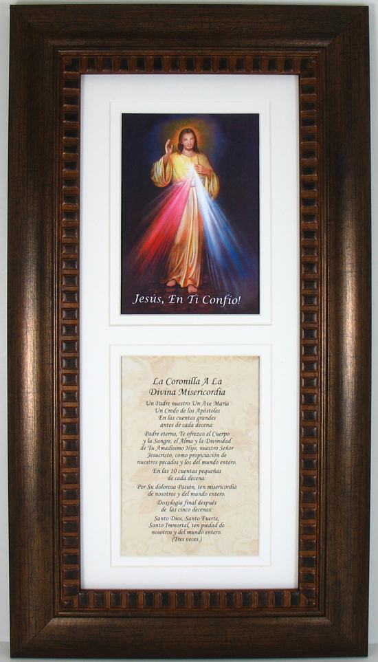 Divine Mercy Spanish Bronze Frame #4624-DM-SP