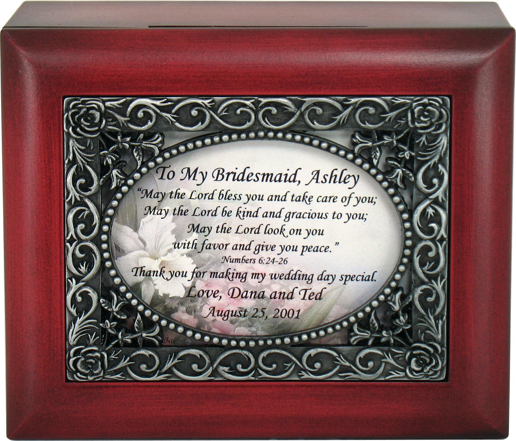 Personalized Bridesmaid Keepsake Box #SJBX-BM-P