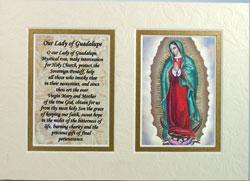 Guadalupe 5x7 Mat with Prayer #57MAT-G
