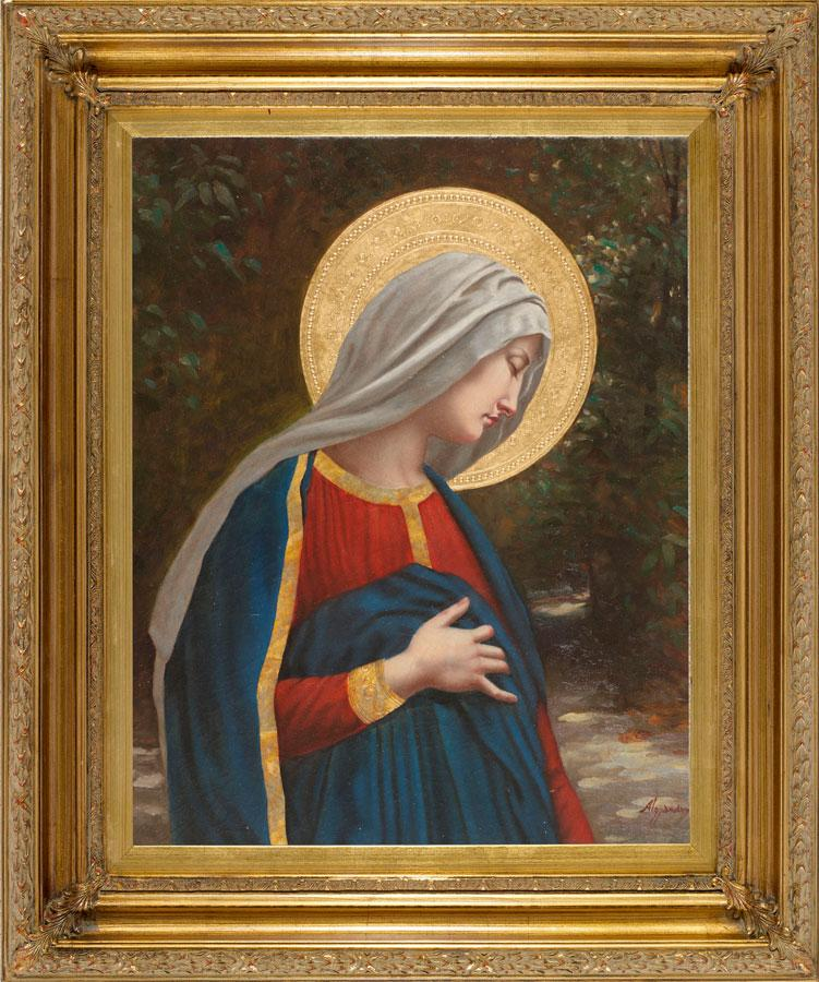 Our Lady with Child Oil Canvas Painting #2636-LC